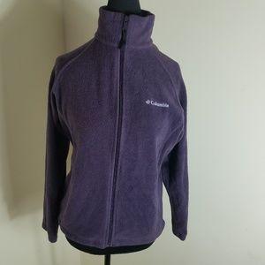 Columbia High Collar Purple Jacket W/ Drawstring